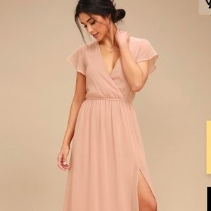 Blush maxi dress from Lulus size large